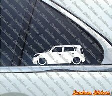 2X Lowered car outline stickers - for Kia Soul 1st gen (AM, 2009–2013)