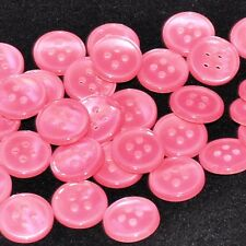 lot de 5 boutons ronds imitation nacre rose 12mm button