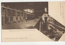 Nakayama Steel Works Open Hearth Furnaces & Casting Plant Japan Postcard 627a