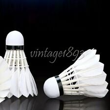 12pc Natural Feather Shuttlecock Standard Sports Training Badminton Racquet Tool