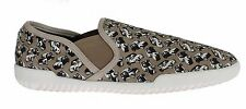 NWT $460 DOLCE & GABBANA Beige Denim Car Loafers Sneakers Shoes s. EU42 / US9