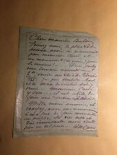 Marguerite Carré chanteuse lettre autographe René Berton théâtre Roch De Max
