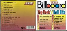 Billboard Top Rock Hits 1959 cd- Frankie Avalon,,The Crests,Richie Valens +