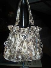 Kathy Van Zeeland  Snake Eyes Belt Shopper , Natural Snake ,NWT,MSRP $89.00