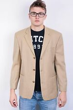 Benvenuto Mens 25 M Blazer Jacket Top Suit Yellow Wool Vintage Club Top