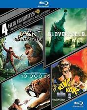 4 FILM BLU RAY JACK GIANT SLAYER CLOVERFIELD 10,000 BC KING KONG