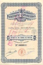 Pathephone-Exploitation SA, accion, 1932 (Siege: Paris)