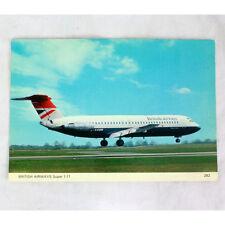 Británico Airways - BAC 1-11 - GAVMW - Avión Tarjeta postal - Bueno Calidad