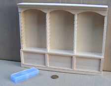 1:12 Natural Finish Deluxe Triple Shelf Unit Dolls House Miniature Furniture 123