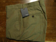 NWT Incotex Lightweight Cotton Flat Front Light Brown Mens Chino Pants 32 $395