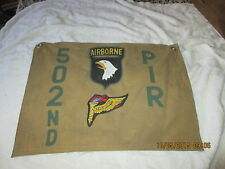 WWII USA 101st AIRBORNE 502 ND  PIR PATHFINDERS D-DAY-HOLLAND COMMAND POST FLAG