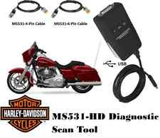 MS531-HD Harley Motorcycle Scan Tool - Diagnostic Scanner & Performance Tuner