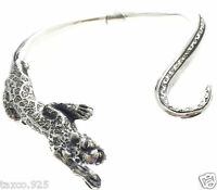 IGNACIO GOMEZ TAXCO MEXICAN 950 SILVER SPOTTED PANTHER NECKLACE MEXICO