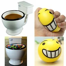Mini Toilet Mug - Gag Gift Prescription Toy Fart Novelty Coffee Beer Cup w Emoji