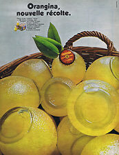 PUBLICITE ADVERTISING 064 1969 ORANGINA jus de fruit les bulles
