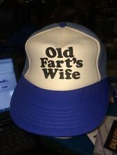 trucker hat baseball cap OLD FART'S WIFE cool lid old school