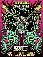 MELVINS / REV HORTON HEAT Ft Collins 2016 FOIL poster by Jesse Hernandez