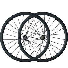 38mm Tubular Carbon Wheels Cyclocross Disc Brake Bike UK Stock Wheelset
