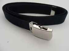 """Air Force Belt Blue Cotton with Buckle and Tip 44"""" X 1 X 1 1/4"""" (Made in USA)"""