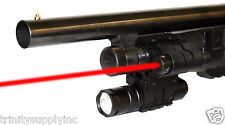REMINGTON 870 12GA SHOTGUN RAIL MOUNT +150 Lumen LIGHT & RED LASER KIT