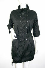 NEW G-STAR Trench Raincoat Dress Black Belted Pockets RRP £150 Size S