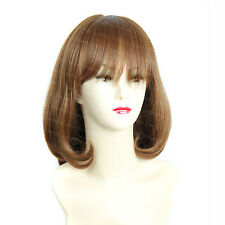 Wiwigs Short Straight Pretty Bob with Fringe Light Brown Full Ladies Wig