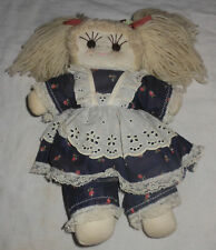"""14"""" Vintage 1981 Great American Doll & Puppet Co Cloth Button Eyes Floral Dress"""