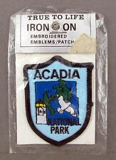 United States USA Maine Embroidered Acadia National Park Iron On Patch Emblem