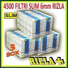 4500 FILTRI RIZLA SLIM 6mm .3 BOX DA 10 SCATOLINI DA 150 FILTRI