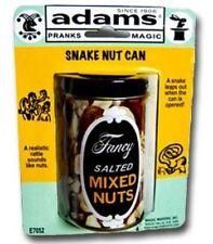 SNAKE NUT CAN BY SS ADAMS GAG JOKE PRANK NOVELTY TRICK MAGIC TOY KIDS PARTIES