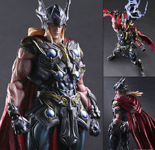 "Marvel Universe Avengers THOR Play Arts Kai 10"" PVC Action Figure Statue NIB Toy"