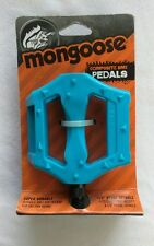 NEW Mongoose Composite BMX Pedals Blue 1/2 INCH Super Durable Lightweight