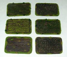 Wargaming Scenery CROPS FIELDS SET - 6 pieces - Warhammer FoW BA 15-28mm terrain