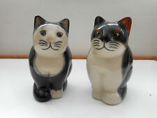 "QUAIL ""Q"" CATS COLLECTABLE CERAMIC  "" SIMON "" & "" TREACLE "" SALT & PEPPER POTS"