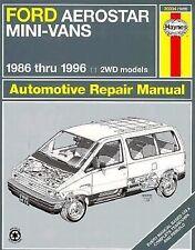 Haynes Ford Aerostar Mini-Vans Owners Workshop REPAIR Manual, 1986-1996 36004
