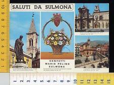 47792] L'AQUILA - SALUTI DA SULMONA - CONFETTI MARIO PELINO SULMONA