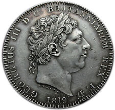 GREAT  BRITAIN 1 CROWN 1819 LIX AU = GEORGE III  =