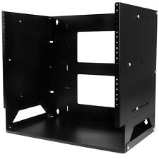 StarTech.com Wall-Mount Server Rack with Built-in Shelf - Solid Steel - 8U