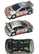 2012 Micro Scalextric Peugeot 206 Total Clarion #3 WRC Rally HO Slot Car G2043W