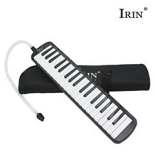 New 37 Key Melodica Pianica Keyboard Mouthpiece Music Instrument with Bag Black