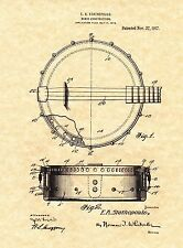 Patent Print - Epiphone Banjo E. A. Stathopoulo. Gibson. Ready To Be Framed!