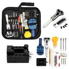 Watch Repair tool Kit Back Case Holder Opener Pin Link Remover Bar 144Pcs