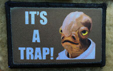 It's a Trap! Star Wars Morale Patch Tactical Military USA Hook Badge Army Flag