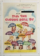 TILL THE CLOUDS ROLL BY, 1946, Hirschfeld artwork, MGM U.S. 1-Sheet LINEN-BACKED