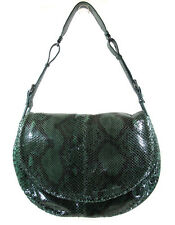 BOTTEGA VENETA STUNNING EMERALD GREEN SNAKESKIN SHOULDER BAG, ITALY