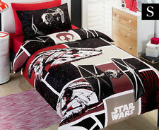 STAR WARS MOVIE PATCH RED BLACK SINGLE bed QUILT DOONA DUVET COVER SET NEW