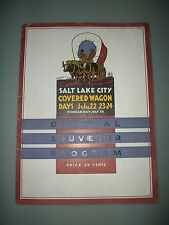 1935 Salt Lake City UTAH PIONEER DAY Souvenir Program Days of 47 Covered Wagon