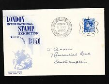 Great Britain 1950 1st Day London Stamp Expo Cover & Mulready Insert Card 5u