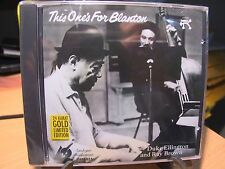 24K Gold CD APO CAPJ-015 This One's for Blanton Duke Ellington/Ray Brown Sealed