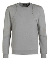 DIESEL BLACK GOLD SUNNY-METAZODIAC GREY SWEATER SIZE M 100% AUTHENTIC